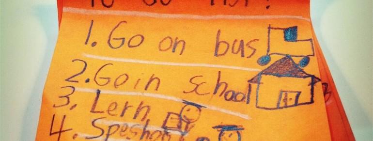 Kids to do list with a twist!